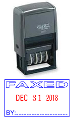 Classix #40320 Faxed Self-Inking Stock Dater (Plastic Frame)