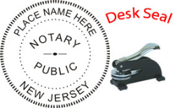 New Jersey Notary Desk Seal
