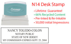 New Jersey Notary Desk Stamp