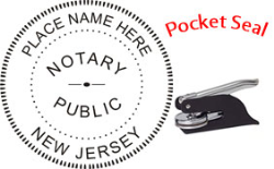 New Jersey Notary Pocket Seal