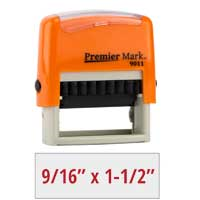 #9011 Premier Mark Self-Inking Stamp - Sunset Orange Mount