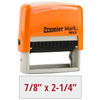 #9013 Premier Mark Self-Inking Stamp - Sunset Orange Mount