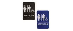 "ADA103_203 - Unisex ADA Compliant Sign with Wheelchair, 6"" x 9"""