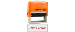 PM9013O - #9013 Premier Mark Self-Inking Stamp - Sunset Orange Mount