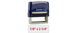 PM9013RB - #9013 Premier Mark Self-Inking Stamp - Royal Blue Mount