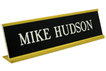 Plate iwth Gold Desk Holder