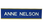 "W30 - 2"" x 8"" Wall Name Plate in Gold Frame"