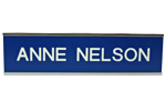 """W31 - 2"""" x 8"""" Wall Name Plate in Silver Frame"""