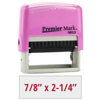 PM9013P - #9013 Premier Mark Self-Inking Stamp - Pink Mount