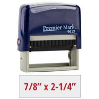 PM9013RB - #9013 Premier Mark Self-Inking Stamp - Royal Blue Mount