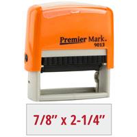 PM9013O - #9013 Premier Mark Self-Inking Stamp - Sunset Orange Mount