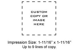 PSI4141 - PSI 4141 Pre-Inked Stamp
