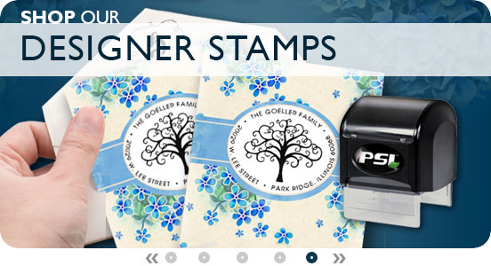 Shop Designer Stamps for your customized stamps now!